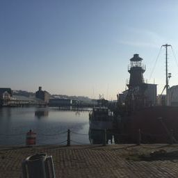 The lighthouse ship in Dundee Harbour