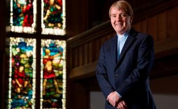 Moderator Designate of The Church of Scotland Reverend Dr Russell Barr, Minister of Cramond Kirk, Edinburgh.