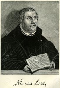 17228401-Portrait-of-Martin-Luther-the-German-Reformer-holding-a-Bible-open-at-the-Epistle-to-the-Romans-Orig-Stock-Photo