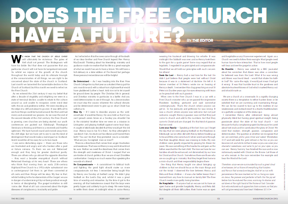 Does the Free Church Have a Future? (editorial for Feb