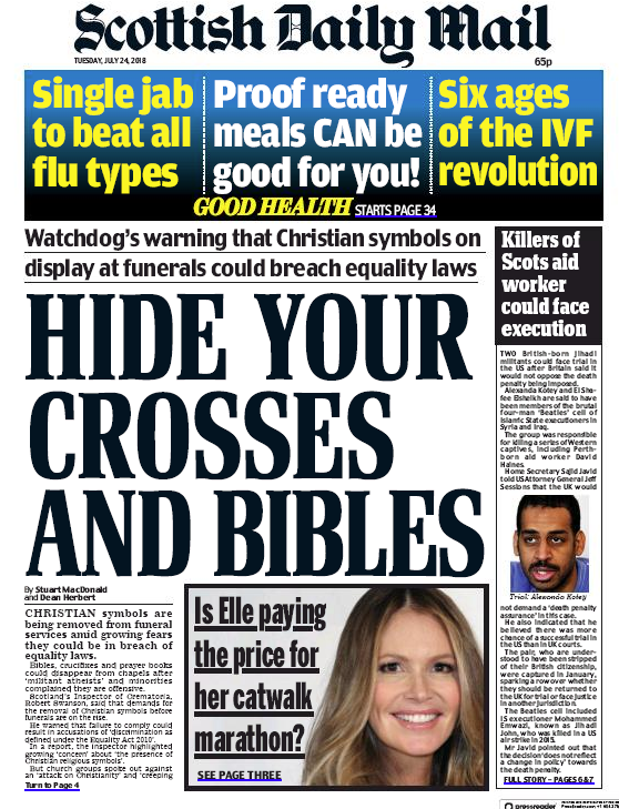 Hide Your Crosses And Bibles How Equality Leads To The Removal Of